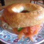 Smoked Salmon & Cream Cheese  & Cucumber Bagel